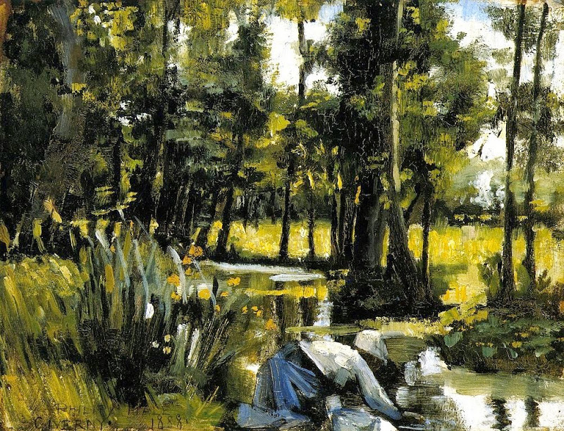 Philip Leslie Hale - Landscape with figures