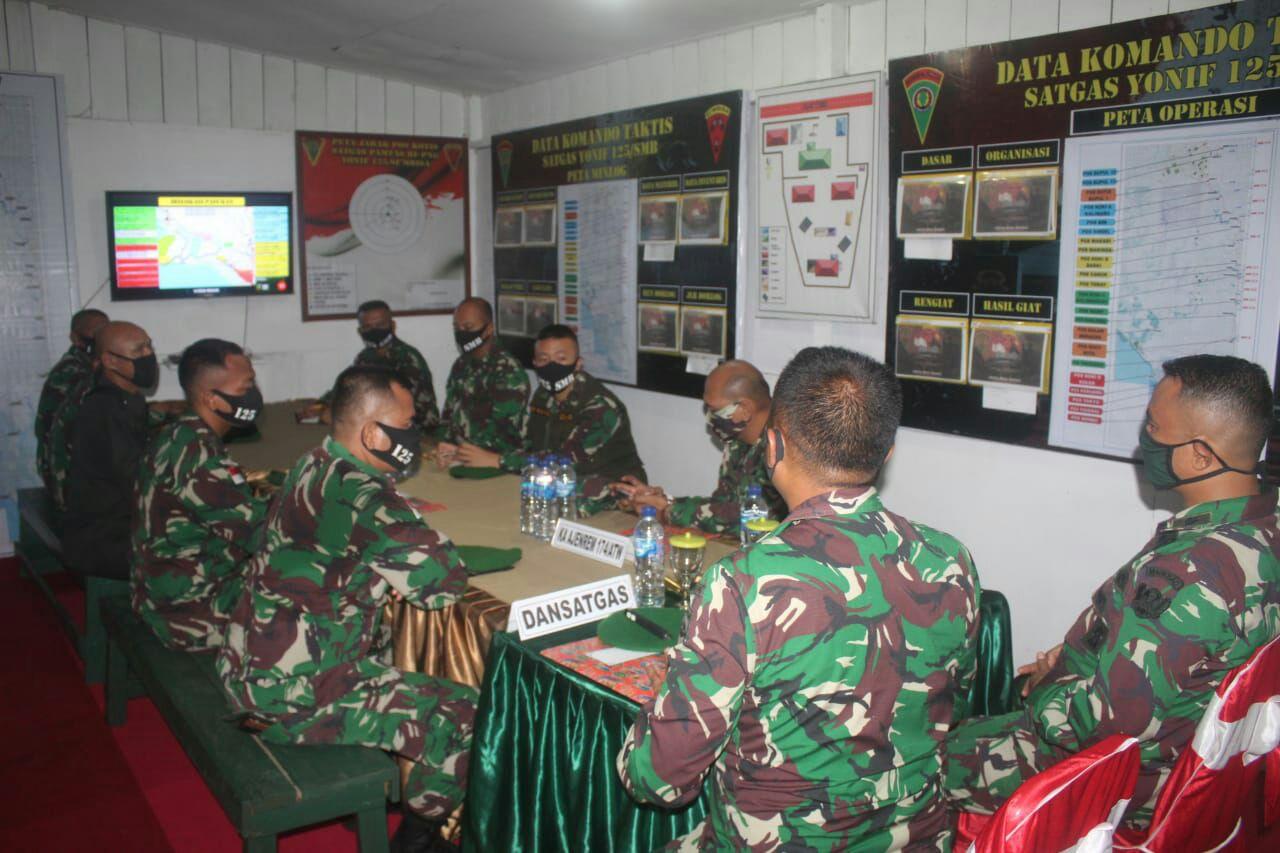 Cek Situasi dan Kondisi Wilayah Perbatasan RI-PNG, Tim Sintelad Kunjungi Satgas Pamtas Yonif 125/Simbisa