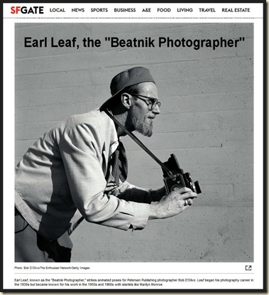 Earl Leaf the Beatnik Photographer, SFGate bd