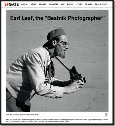 Earl Leaf the Beatnik Photographer, SFGate bd