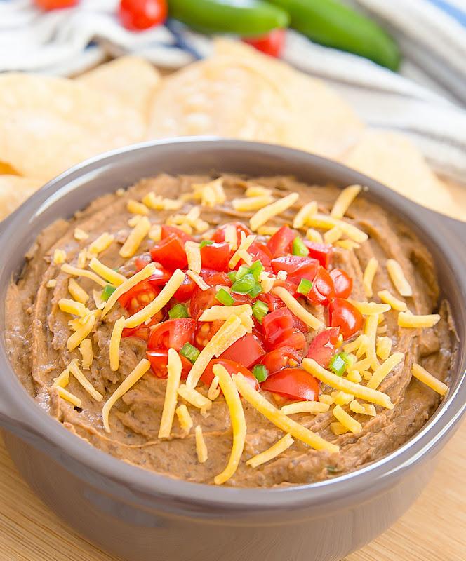 close-up photo of Southwest Black Bean Hummus Dip