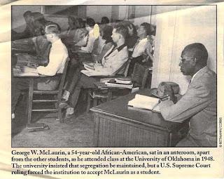 Orang kulit hitam pertama yang diterima di Universitas Oklahoma