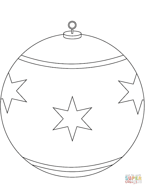 Click The Round Christmas Ornament Coloring Pages