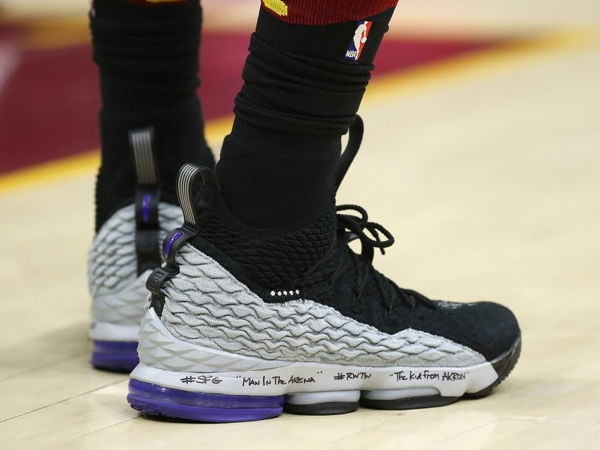 de99324d4d4 LeBron James Debuts Shox BB4 Inspired LeBron Watch 15s in Game 1 Loss ...