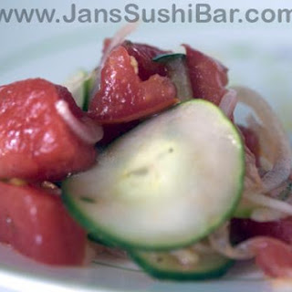 Tomato, Watermelon and Cucumber Salad