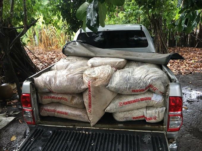 Polícia recupera cerca de 5 toneladas de fertilizantes furtados em usina