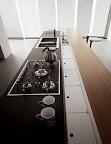 particolare del canale retrobasi per tutti i modelli di cucine Valcucine