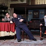 Richard Michael Roe, John Quinan and Matthew Surman in ARSENIC AND OLD LACE (R) - May 2011.  Property of The Schenectady Civic Players Theater Archive.