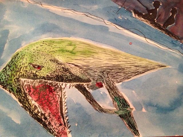 Kunstvakken pabo loch ness tekenen oost indische inkt met ecoline - Kleur associatie ...