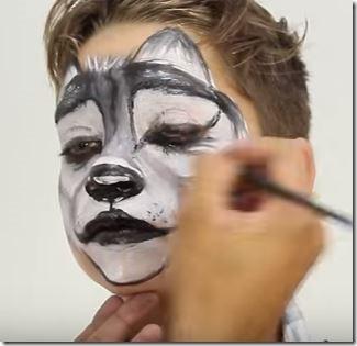lobo maquillaje