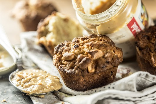 Muffins med peanuts , bananer og peanutbutter - Mikkel Bækgaards Madblog-4.jpg