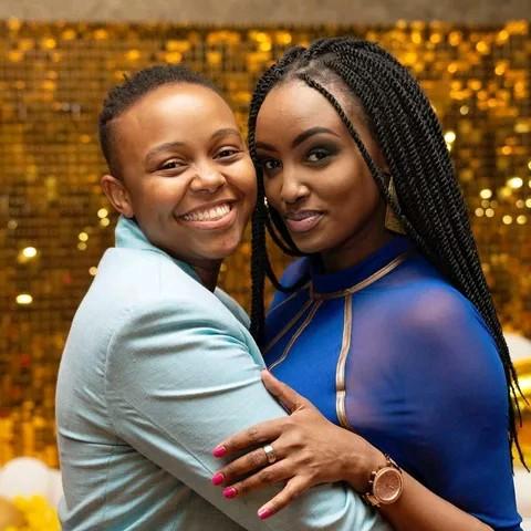 Marini Naturals CEO Mitchelle Ntalami and her BFF Makena Njeri photo