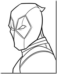 Deadpool para colorear