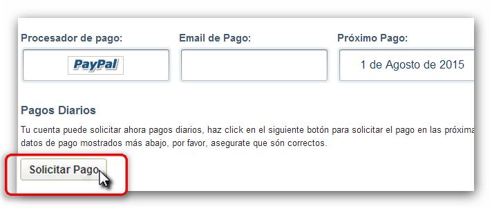 Adfly solicitar pago