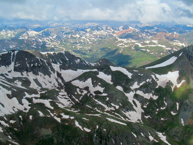 View west from Handies Peak