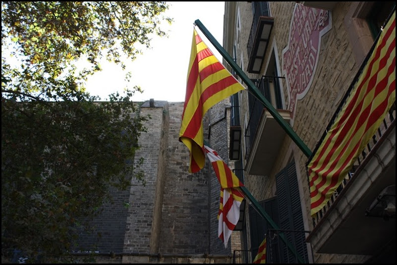 Catalan flags in Barcelona