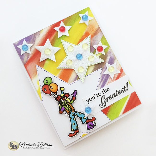 robins nest clown card