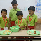 Healthy Fruit Salad Day Celebrated by Jr.KG. at Witty World, Chikoowadi (2017-18)