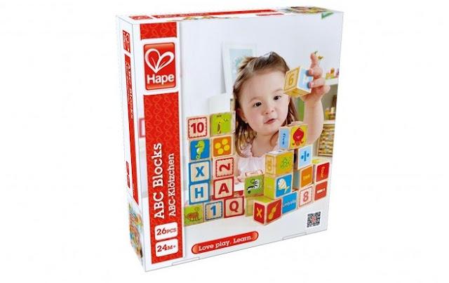 Bộ chữ cái bằng gỗ hình khối Hape ABC Blocks