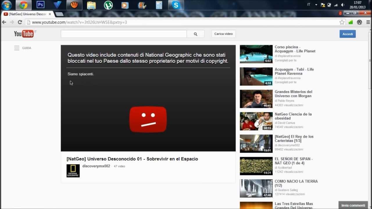 Video YouTube bloccati in italia: Ecco come fare per vederli