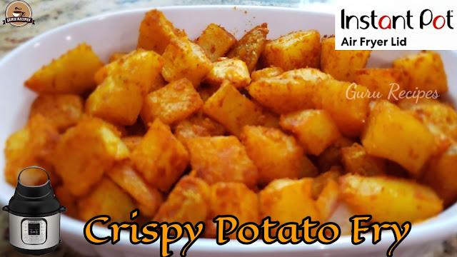 Spicy Potato Fries in Instant Pot Air Fryer Lid