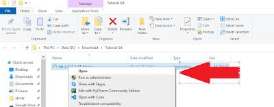Menginstall Git di Windows - Geloratekno