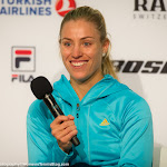 STUTTGART, GERMANY - APRIL 18 : Angelique Kerber talks to the media at the 2016 Porsche Tennis Grand Prix