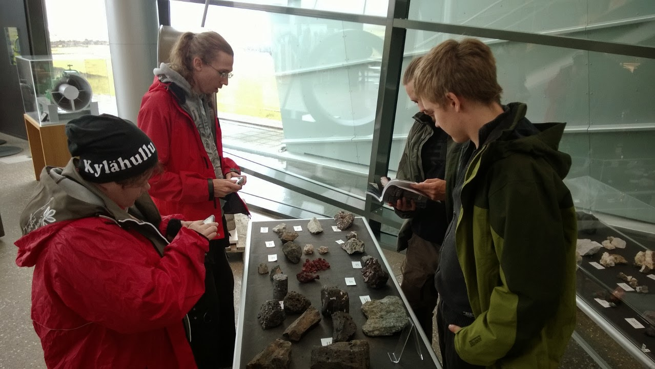 Rock and mineral exhibition, Hellisheiði Power Station. J-M Kekki