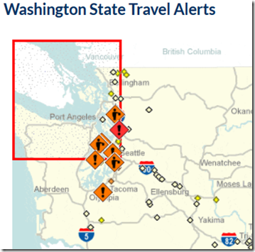 Washington State Travel Alert Map