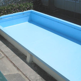 School Pool. This pool was completely sandblasted back to bare concrete and recoated with a 2 pack Epoxy.