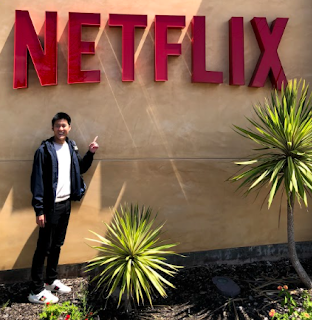 Alaric Moses Ong at Netflix's headquarters