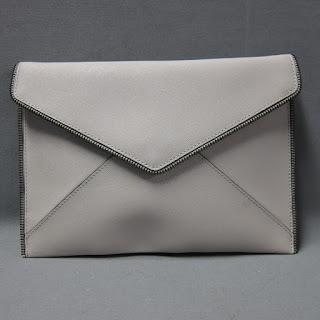 Rebecca Minkoff Putty Leather Envelope Clutch