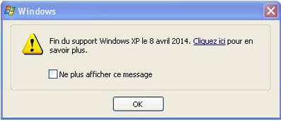 8 avril 2014 - Fin du support de Windows XP