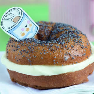 Trompe L'oeil Bagels with Cream Cheese.