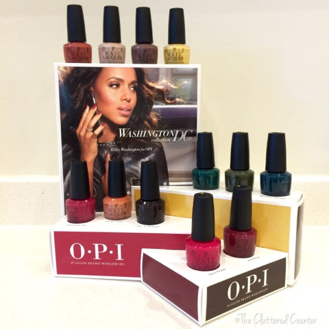 THE CLUTTERED COUNTER: OPI Washington DC Fall/ Winter 2016 Collection With Special Edition Kerry Washington Shades