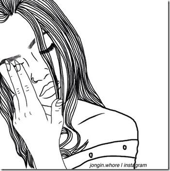 dibujos lapiz llorar y tristeza  (7)