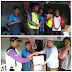 Anggota Karang Taruna Taman Adiyasa Mengantar Bantuan Bencana Tzunami