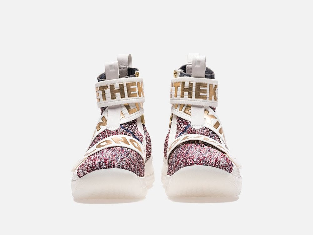sale retailer 663d5 2c861 KITH X Nike LeBron 15 Lifestyle 'Stained Glass' w/ 3 Straps ...