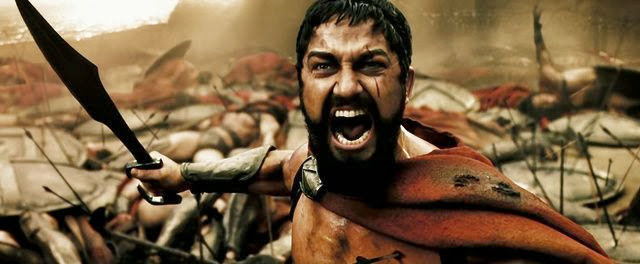 Screen Shot Of Hollywood Movie 300 (2006) In Hindi English Full Movie Free Download And Watch Online at Alldownloads4u.Com