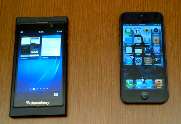iPhone 5 and BlackBerry 10 Browser Compatibility Test Video