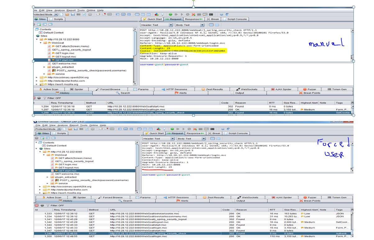 WebGoat Form-based Authentication - missing something