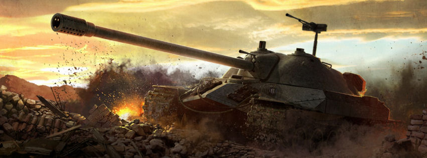 World of tanks game facebook cover