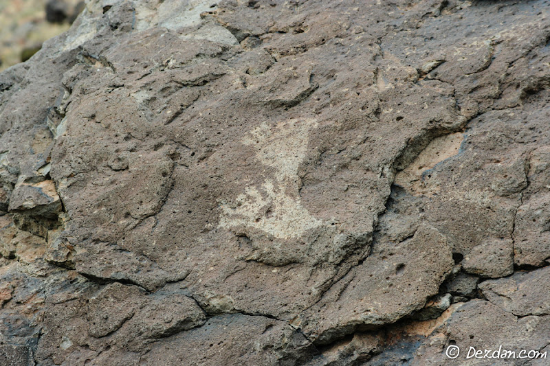 Two (6 toed!) human feet petroglyphs.