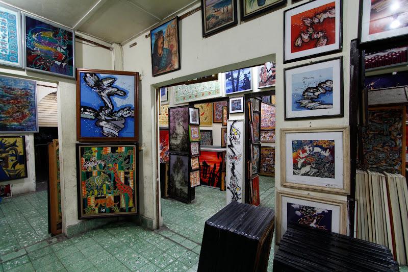 Unos cuantos batiks de un taller de Yogyakarta