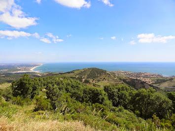 Vue sur Argelès et Collioure