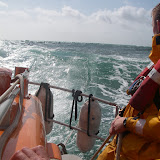 11 September 2011 - the ALB has deployed its drogue and 2 crew members adjust the ropes