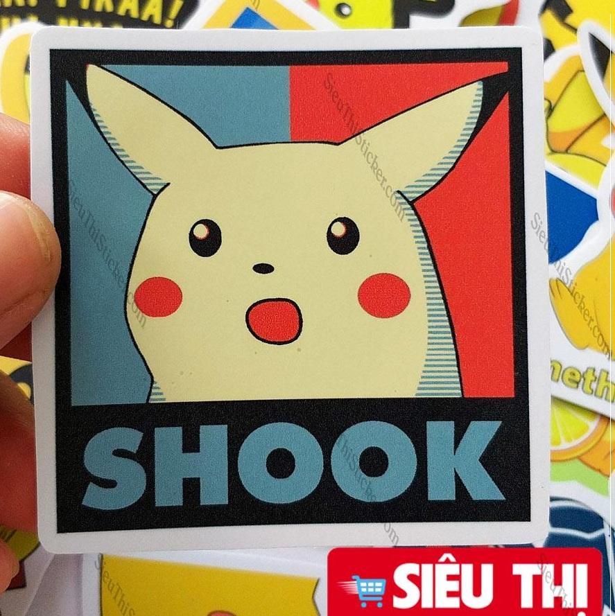 sticker pikachu vàng
