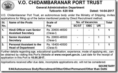 VOC Port Recruitment 2017 www.indgovtjobs.in