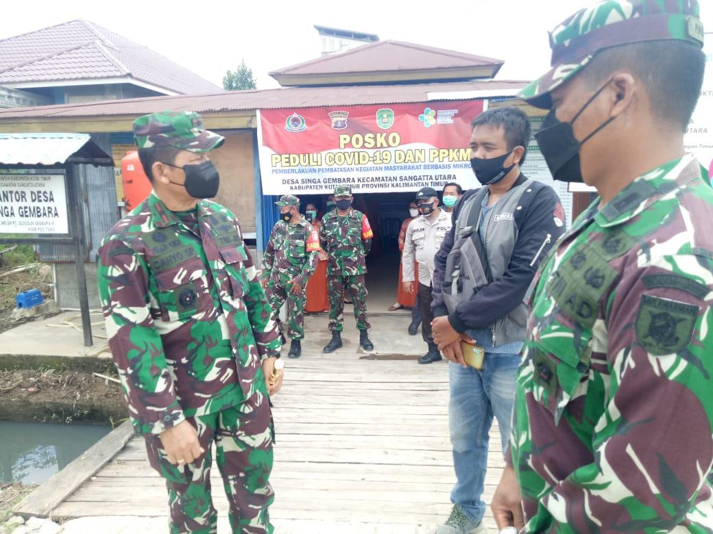 Danrem 091/ASN Kunjungi Posko Penanganan Covid-19 di Kutim
