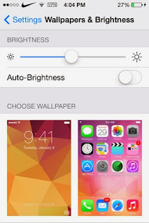 Wallpapers & brighness